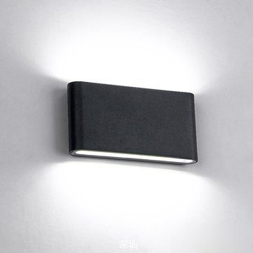Modern 12W COB LED Black Wall Sconce Light IP65 Waterproof Indoor Outdoor Decor AC85-265V