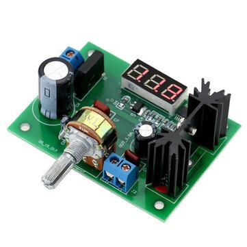 LM317 Adjustable Voltage Regulator Step Down Power Supply Module LED Meter