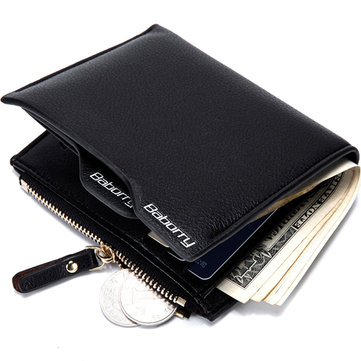 Men RFID Blocking Secure Wallet 6 Card Slots Protective Short Wallet