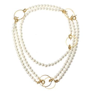 Original JASSY® Fashion Collar largo de 18 quilates chapado en oro