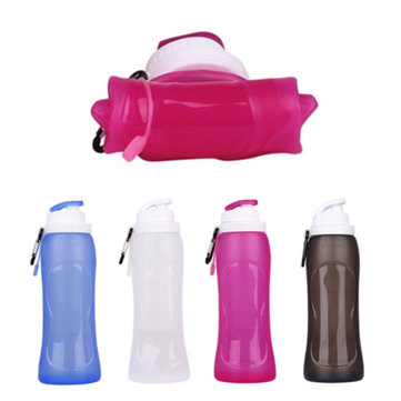 500ML Travel Collapsible Silicone Sport Foldable Water Bottle for Outdoor Camping Hiking