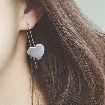 Simple Metal Heart Love Earrings Ear Hook Earrings For Women