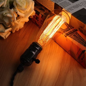 E27 60W Retro Vintage Industrial Style Filament Light Bulb Edison Lamp AC110V/220V