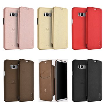 Lenuo Flip Card Slots Ultra Thin Soft PU Leather Cover Case For Samsung Galaxy S8 Plus 6.2 Inch