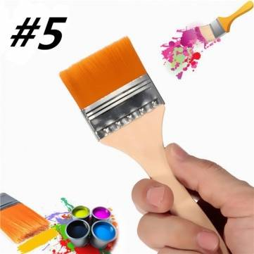#5 Nylon Painting Brush Artists Acrylic Oil Paint Varnish Tool Art Supply