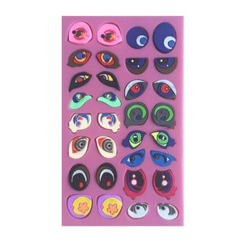 2Pcs Cartoon 3D Eyes Silicone Decorating Mold Fondant Cake Mould Chocolate Mold
