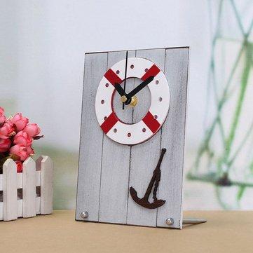 Avrupa Akdeniz Stili Saat Masa Masaüstü Saat Ahşap Hediyelik Oda Dekorasyonunda
