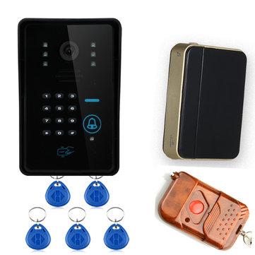 ENNIO SYWIFI006IDS Touch Key WiFi DoorBell Video Door Phone Home Intercom System IR RFID Camera