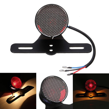 Motorcycle LED Rear Tail Brake Signal License Plate Light For Cafe Racer Bobber