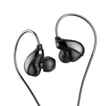 BaseusEncokH053.5mmEarhookControle com fio Stereo Bass Headphone com fone de ouvido com microfone