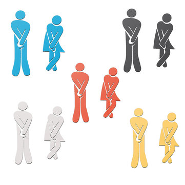 3D Design Toilet Male Female Decals Vinyl Art Wall Decor Sticker Mirror Decor