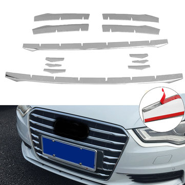 Stainless Steel Front Bumper Air Grille Grill Moulding Trim Strip for Audi A3 8v Sedan 2014-2018