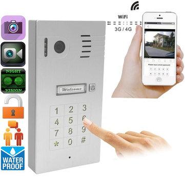 タッチスクリーンワイヤレスビデオドア電話ドアベルインターホンIP穴蓋カムビューアサポートIOS Android