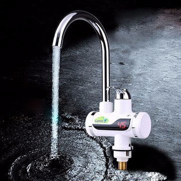 Kitchen Bathroom Heating Faucet LED Digital Display Instant Heating Electric Water Heater Tap