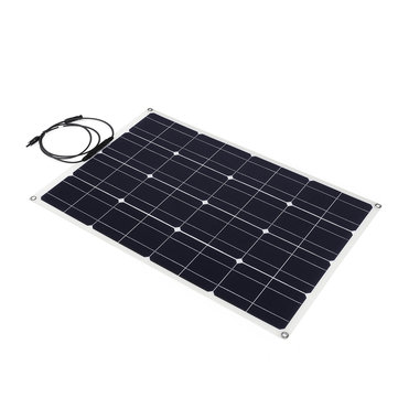 100W 18V 5A Solar Panel Monocrystalline MC4 Line Camping Hiking Cycling Traveling