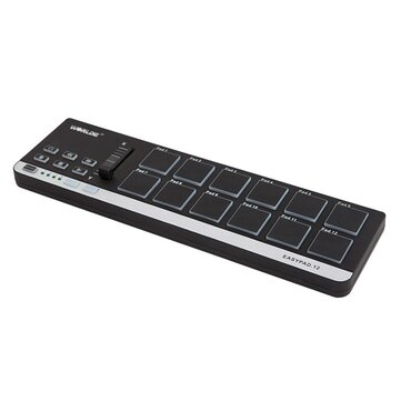 Worlde EasyPad 12 Portable Mini USB 12 Drum Pad MIDI Controller