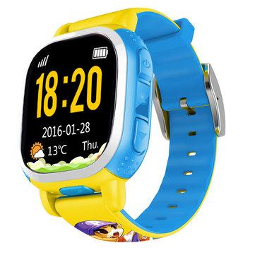Tencent QQ US 1.22 inch MTK6260D Waterproof GPS Wifi Locating GSM Kids Smart Watch