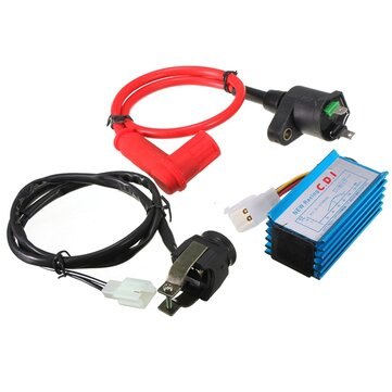 Motosiklet Ateşleme Bobini CDI Harnes Kill Switch Kit 110 125cc Pit Dirt Bike için