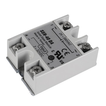 ₹738.36 24V 40A Single Phase SSR-40 DA Solid State Relay Module For 3D Printer Parts 3D Printer & Supplies from Electronics on banggood.com