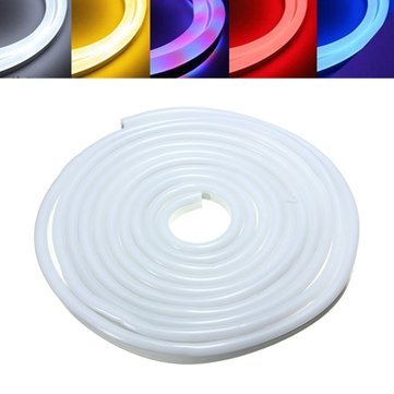 5M 2835 LED Flexible Neon Rope Strip Light Xmas Outdoor Waterproof 110V