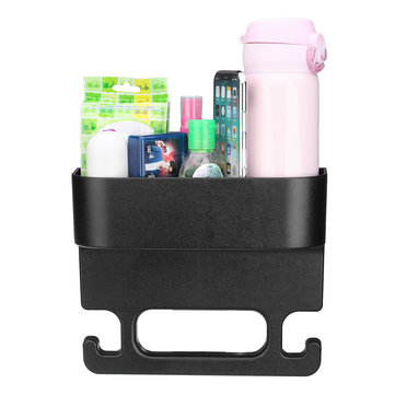 Plastic Car Seat Crevice Back Storage Box Seat Gap Filler Multifunctional Handrail Hanger Hook