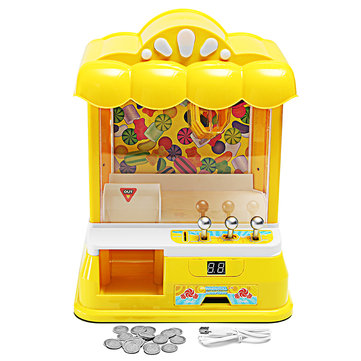 Doll Coin Candy Catcher Claw Machine 11*9*15 Inch Grab Ball Novelties Toys Fun Gift