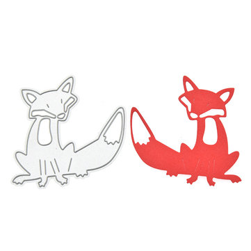 Animal Fox Pattern Scrapbooking DIY Album Card Paper Diary Craft Maker Metal Die Cutting Stencils