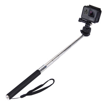 PULUZ PU55 Extendable Handheld Selfie Stick Monopod for Action Sport Camera