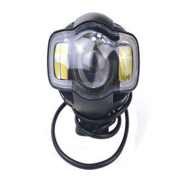 DC9-85V 20W 2000lm Motorcycle LED Hung-out Headlight With USB Charger Lamp