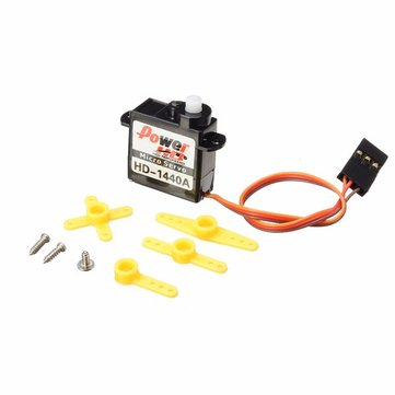 Power HD-1440A 0.8KG 4.4g Micro Steel Ring Engine Micro Servo Compatible with Futaba/JR RC Car Part