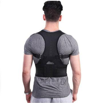Fully Adjustable Hunchbacked Posture Corrector Lumbar Back Magnets Support Brace Shoulder Band Belt