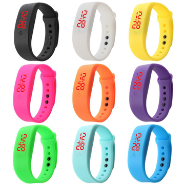 B5 LED Digital Watch Red Light Men Women Fashion Student Silicone Bracelet Casual Unisex Sport Watch
