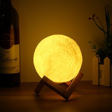 13cm Magical Tap Sensor Moon Table Lamp USB Charging Rechargable Luna LED Night Light Gift