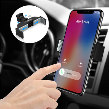 RAXFLY Universal 360° Rotation Car Mount Air Vent Phone Holder for Phone Under 6 inches