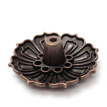 9 Holes Alloy Lotus Flower Incense Burner Holder Plate For Stick Cone Incense