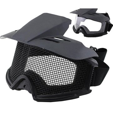 Tactical Motorcycle Goggles CS Mesh PC Lens Bullet-proof Protection Glasses WosporT
