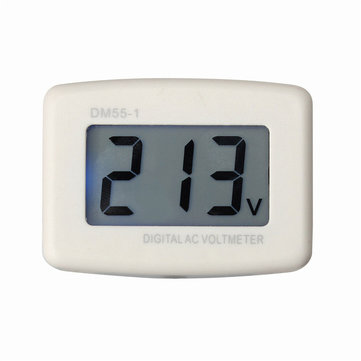 DM55-1 LCD AC Digital Voltage Meter Volt Meterr Monitor Backlight AC100-300V Switch