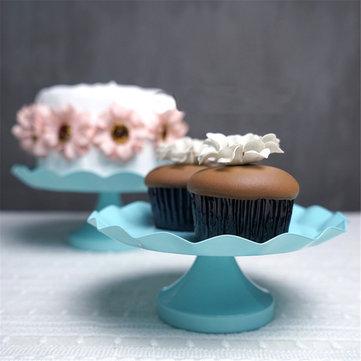 3 Size Blue Round Cake Cupcake Stand Pedestal Dessert Holder Wedding Party Decorations
