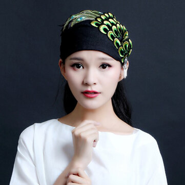 Women Cotton Embroidery Folk-Custom Headpiece