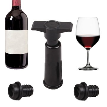 Bottle Vacuum Wine Preserver Saver Sealer Plug Preserver Pump with 2 Stoppers Set Wine Stopper