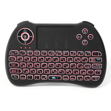 iPazzPort KP-810-21Q 2.4G Wireless Russian Three Color Backlit Mini Keyboard Touchpad Air Mouse
