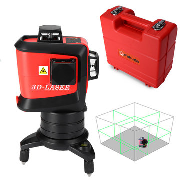 MW-93T-3G 3D 12 Line Green Laser Level Self Leveling 360° Rotary Vertical Horizontal Cross