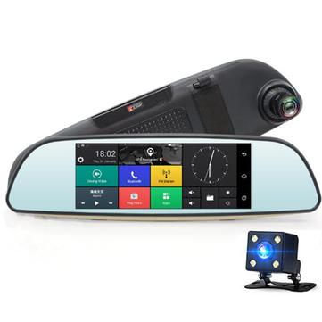 JUNSUN E515 Dual Lens GPS FHD 1080P DVR Rearview Camera Night Vision Loop-cycle Recording