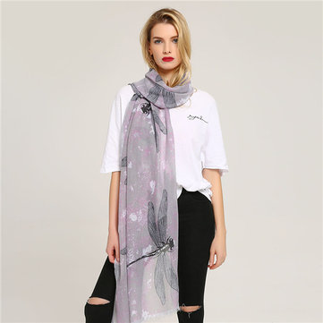 Women Warm Printing Fashion Outdoor Shawl Scarves