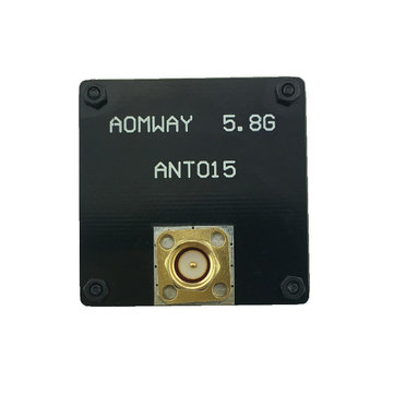 AOMWAY ANT015 5.8GHz 8dBi RHCP Right Hand Circular Polarized Patch SMA Male RX FPV Flat Antenna