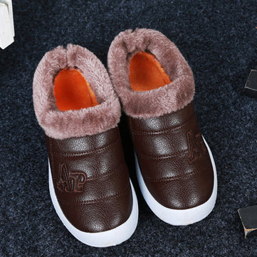 Warm Faux Fur Lining Slip On Round Toe Casual Snow Ankle Boots
