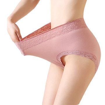 หญิงสูงเอวนุ่มฝ้ายสี Pure กางเกงยืดยืดหยุ่น