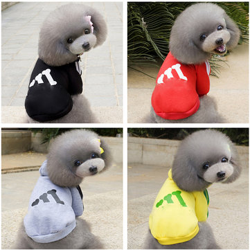 Pet Dog Puppy Cotton Winter Coat HoodieTwo-Legs Clothes With Hat Sport Style