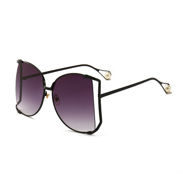 Men Women Outdoor Metal Pearl Sunglasses