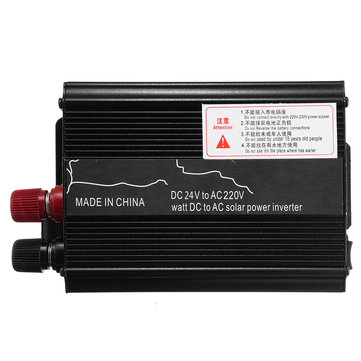 3000W 12V/24V DC to 110V/220V AC Solar Power Inverter LED Modified Sine Wave Converter Black